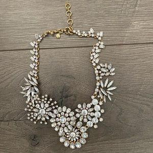 Jcrew floral lattice statement necklace